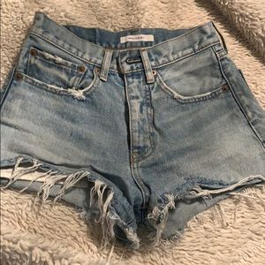 Moussy brand vintage looking cutoff Jean shorts